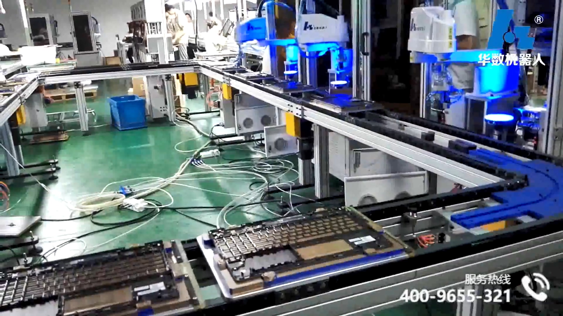 Scara electronic assembly line